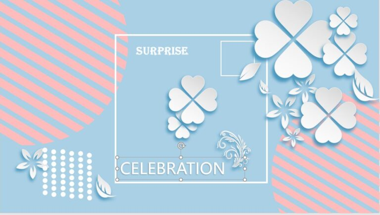 Celebration PowerPoint Template Image