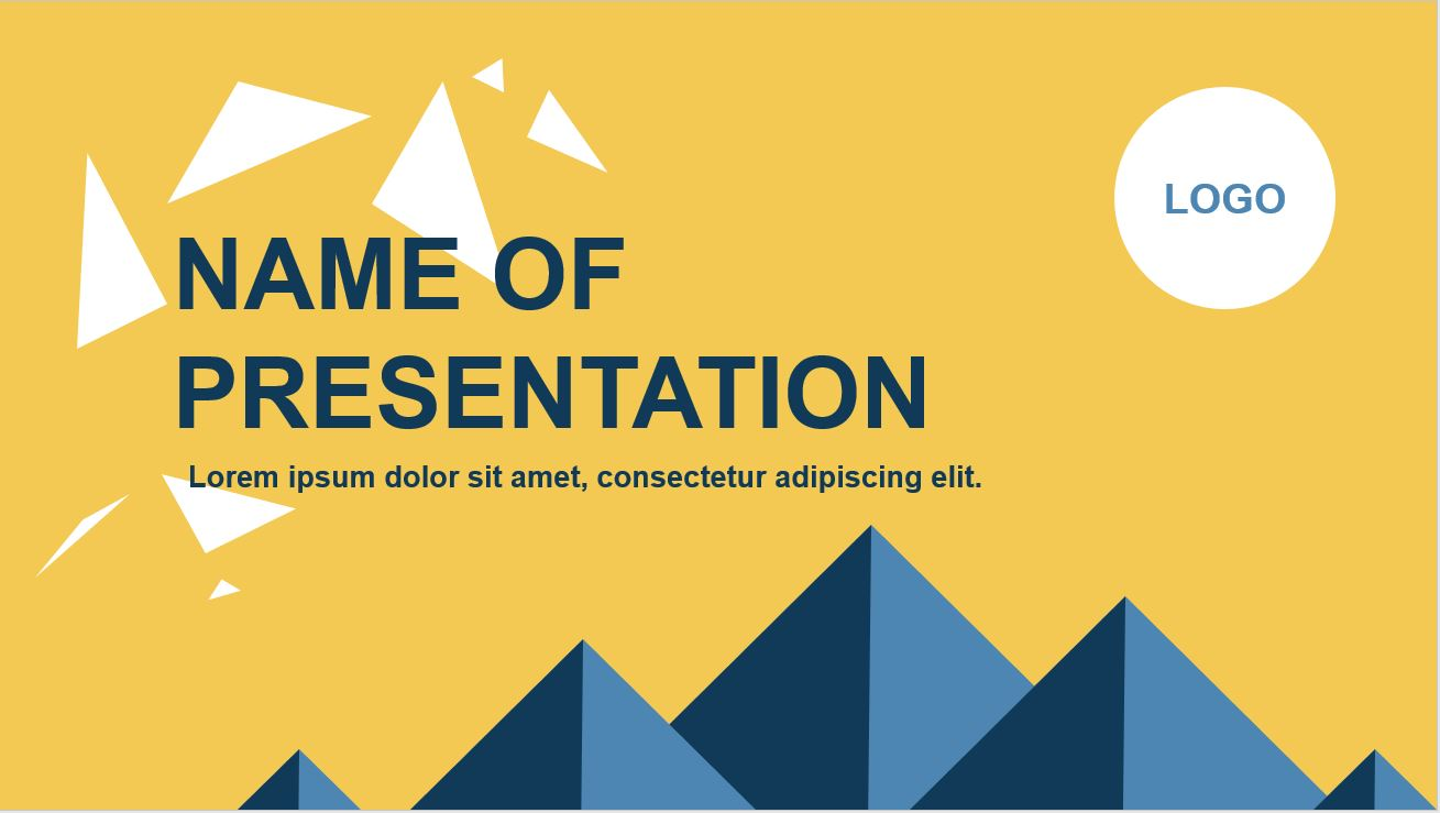 Modern Business Yellow PowerPoint Template Image