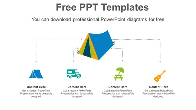 Camping-Travel-Tent-PowerPoint-Diagram-post-image